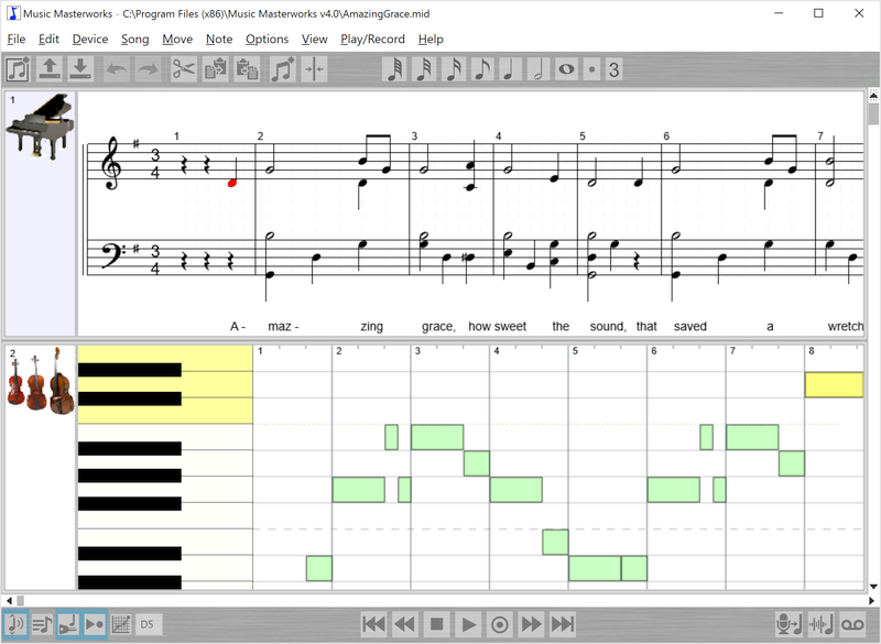Easy to use MIDI music editor with voice-to-note